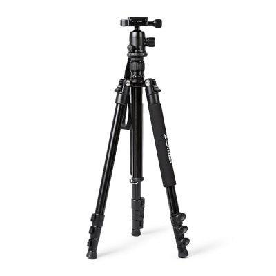 Zomei Q555 Aluminum Alloy Portable Camera Tripod  -  BLACK