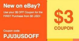 Купон ebay 3 от 5