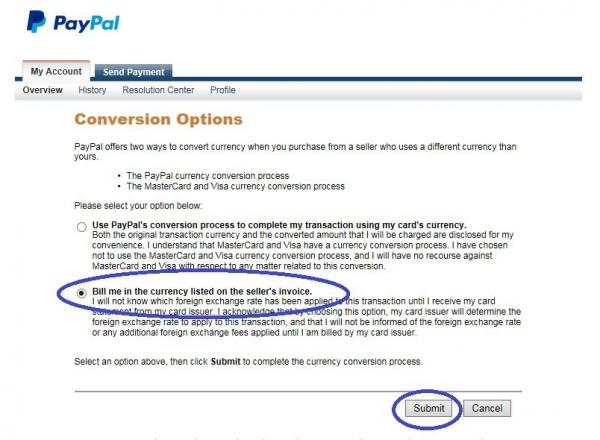 Настройка платежа без конверсии Paypal. Шаг 4