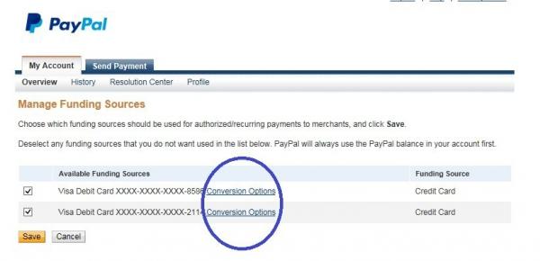 Настройка платежа без конверсии Paypal. Шаг 3